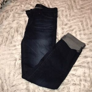 AG Adriano Goldschmied Dark Mid Rise Jeans Sz 26R